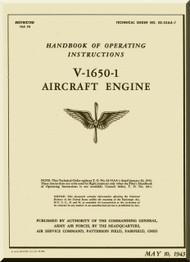 Rolls Royce Merlin V-1650-1  Operator Manual Manual  ( English Language ) - 1943 - T.O. 02-55AA-1