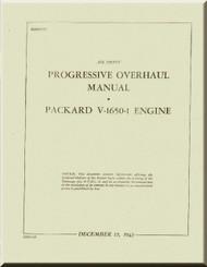 Rolls Royce Packard Merlin V-1650 -1 Aircraft Engine Progressive Overhaul Manual