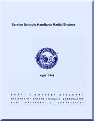 Pratt & Whitney Aircraft Engines Radial Service School Handbook Manual - 1948