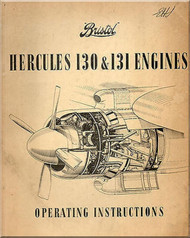 Bristol Hercules 130  & 131 Aircraft Engine Operator Instructions Manual