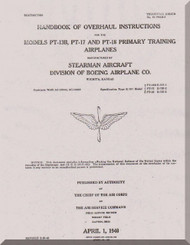 Stearman PT-13,17, 18 Aircraft Overhaul instructions Manual - 01-70AB-3 - 1940
