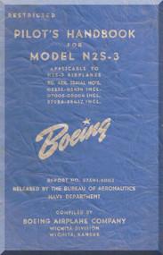 Stearman N2S-3 Aircraft Pilot's Handbook Manual - B75N1-9003 - 1942