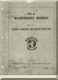 Douglas DC-6   Aircraft  Maintenance  Manual  ,  1946
