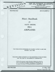 Mc Donnell  FH-1  Aircraft  Pilot's Handbook Manual   AN 01-245FA-1 , 1949