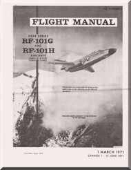 Mc Donnell Douglas F-101 G and F-101H   Aircraft  Flight Manual   T.O. 1F-101(R)G-1 , 1971