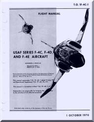 Mc Donnell Douglas F-4 C, D, E   Aircraft  Flight  Manual   T.O. 1F-4C-1 , 1970