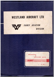 Westland Saunders Roe Scout  Helicopter Descriptive amd Servicing  Notes  Manual  , 1962