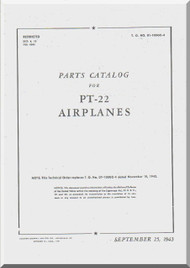 Ryan PT-22  Airplane Parts Catalog Manual -  T.O. 01-100GC-4 -1943
