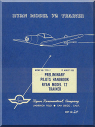Ryan Navion  Model 72 Airplane Prelimnary Pilots Handbook  Manual
