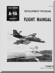 Northrop A-9  Aircraft Flight Manual DPM A-9A-1, 1972