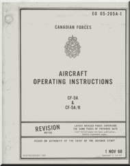 Canadair / Northrop CF-5 A CF-5 A/R   Aircraft Operating Manual EO 05-205A-1 , 1968