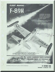 Northrop F-89 H  Aircraft Flight Manual  A.N 1F-89H-1 , 1958