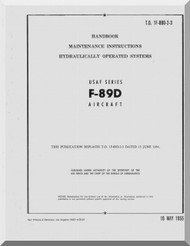 Northrop F-89 D   Aircraft Maintenance Instructions - Hydraulically Operated Systems  Manual  A.N 1F-89D-2-3 , 1955