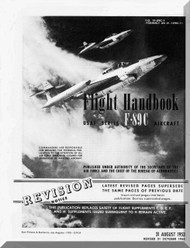 Northrop F-89 C  Aircraft Flight Manual  A.N 1F-89C-1 , 1953