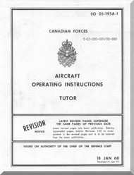 Canadair CL-41 Aircraft  Operating Manual - Tutor - EO 05-195A-1 - 1968