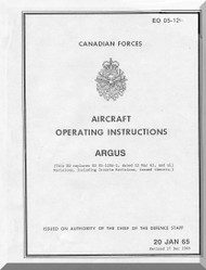 Canadair CL-28 CP-107  Aircraft  Operating Manual  - EO 120A-1 - 1962