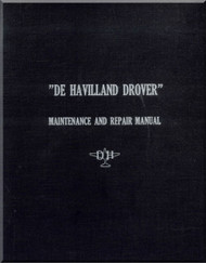 De Havilland DHA-3 Drover Aircraft Pilot's Notes & Operating Maintenance & Repair Manual - 1952