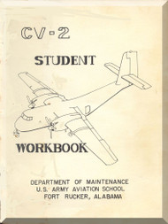 De Havilland CV-2B Caribou Aircraft Student Workbook  Manual