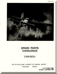 De Havilland DHC-4 Caribou Aircraft Spare Parts Catalogue  Manual -  PSM 1-4-4 -1959