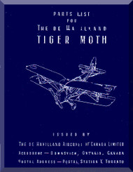 De Havilland  DH-82 C / PT-24 Tiger Moth  Aircraft Parts List Manual