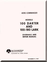 Aero Commander 100 Darter 180 Lark Overhaul and Repair  Manual