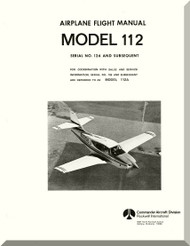 Aero Commander 112 A   Aircraft Flight Manual - 1977
