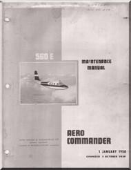 Aero Commander 560 E  Aircraft Maintenance Manual - 1960