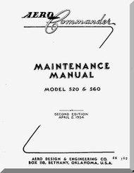 Aero Commander 520 560  Aircraft Maintenance  Manual , 1954