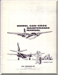 Aero Commander 680 E Aircraft Maintenance  Manual , 1960