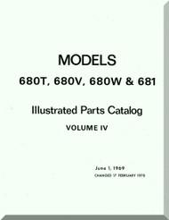 Aero Commander 680 T, V, W 681  Aircraft Illustrated Parts Catalog Manual , 1969