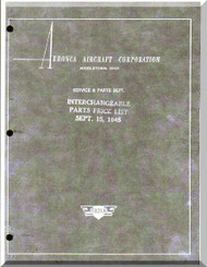 Aeronca 7 XX  Aircraft Interchangeable Parts Price Manual - 1945