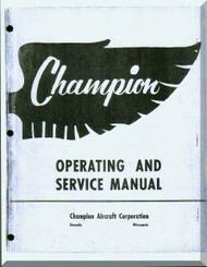 Aeronca 7 EF 7 EC Aircraft Service  Manual