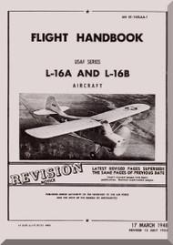 Aeronca L-16 A and L-16 B   Aircraft Flight Handbook Instruction  Manual, No. 01-145LAA-1,  1948