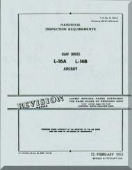 Aeronca L-16 A and L-16 B   Aircraft Inspection Requirement  Manual, No. 01-145LAA-16,  1948