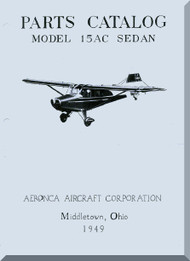 Aeronca 15 AC   Aircraft Parts Catalog  Manual, 1949
