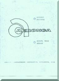 Aeronca 15  AC  Sedan Aircraft Service  Manual