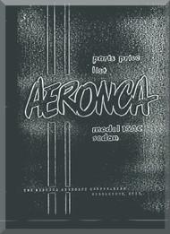 Aeronca 15  AC   Aircraft Parts Price List  Manual