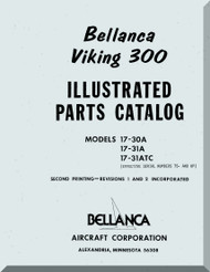 Bellanca Viking 300  Aircraft Illustrated Parts Catalog  Manual