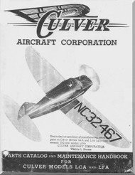 Culver LCA LFA Aircraft  Parts Catalog and Maintenanance Handbook Manual