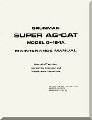 Grumman American G-146 A  Aircraft Maintenance Manual  1973