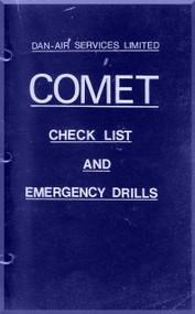 De Havilland Comet Aircraft Check List & Emergency Drills Manual