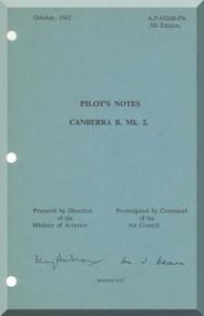 English Electric Canberra B Mk.2  Aircraft  Pilot's Notes Manual  AP 4326B