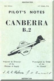 English Electric Canberra B.2  Aircraft  Pilot's Notes Manual  AP 4326B