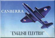 English Electric Canberra  Brochure  Aircraft Manual -  ( French Language )