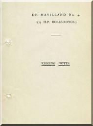 Airco De Havilland DH-4 Aircraft Rigging Notes Manual