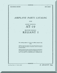 Stinson  AT-19  Aircraft Parts Catalog  Manual , T.O. 01-50KA-4,   1944
