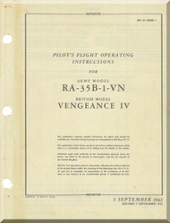 Vultee  RA-35B-1-VN  Aircraft Pilot's  Flight Operating insruction  Manual - AM 01-50AE-1 - 1943