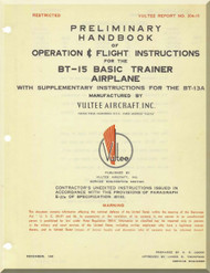 Vultee   BT-15   Preliminary Operating Flight  Instruction   Manual -  ,1941