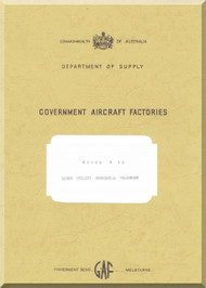 Government Aircraft Factories Nomand N24 Aircraft Flight Manual,