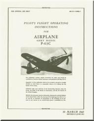 Bell P-63 C Aircraft Flight Manual - 01-110PQ-1 - 1945